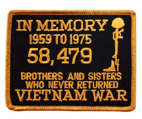 - Vietnam In Memory of Brothers and Sisters Who Never Returned Iron on Patch HONFLB1400