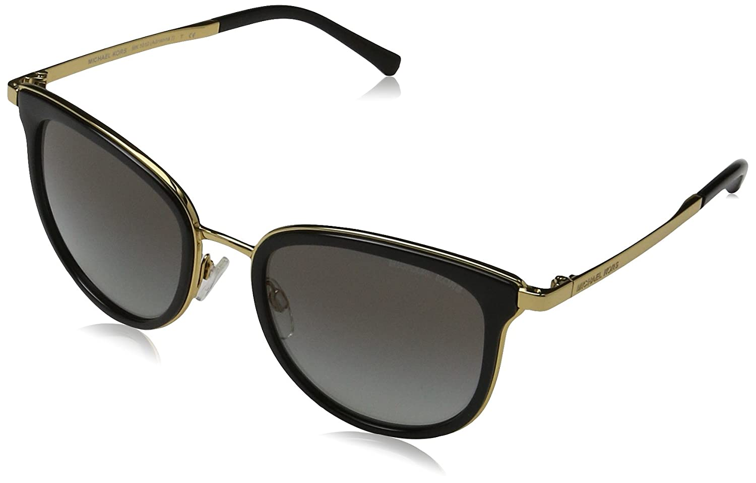 ee872d8ff4 Amazon.com  Michael Kors Women s Adrianna I MK1010 Black Gold Sunglasses   Clothing