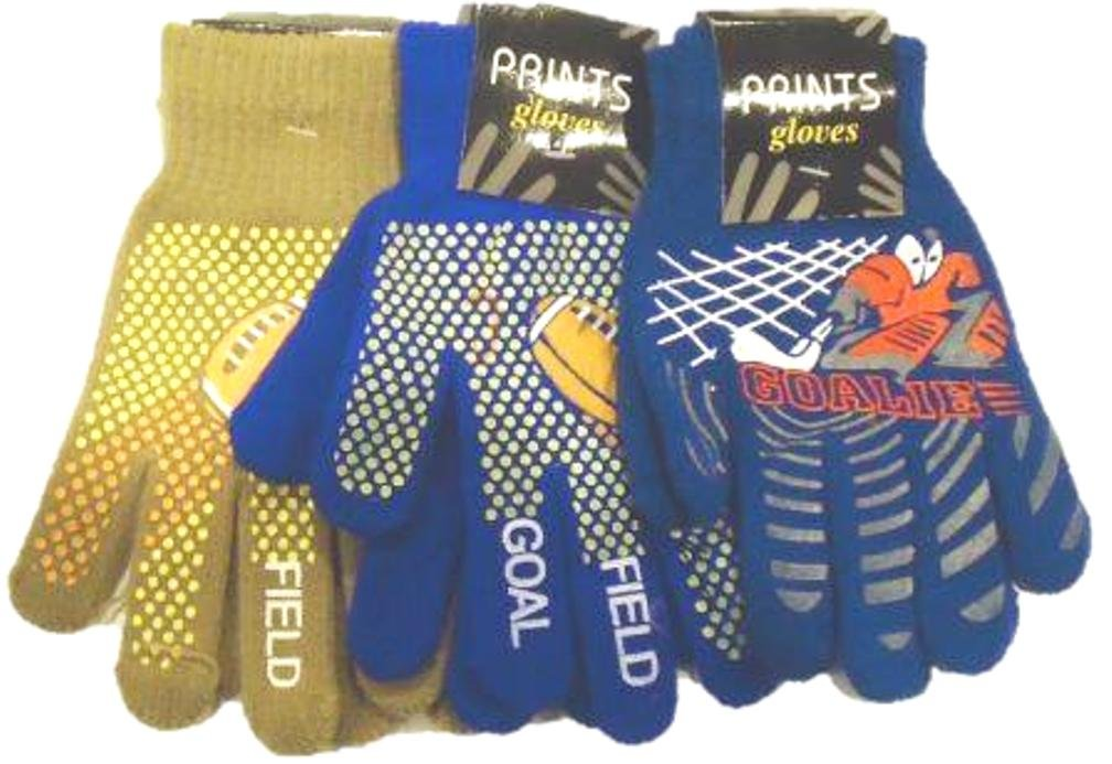 Set of Three Magic Stretch Microfiber Lined One Size Athletic Gloves for Teens