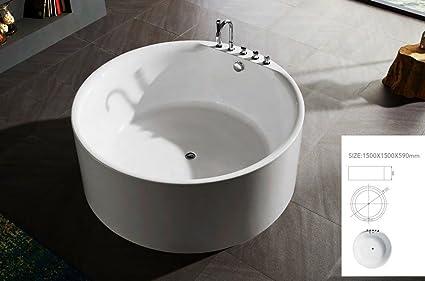 Vasca Da Bagno Tradizionale : Vasca da bagno tradizionale freestanding circolare Ø cm