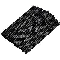 Zwarte 100 stks Dis-Posable Flexibele Plastic Drinkrietjes, Kleurrijke Drinkrietjes, Sap Drink Melk Thee Elleboog…