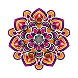 NISH! Rangoli Sticker (Vinyl, Large - 24in x 24in, 50 Pieces) | Rangoli Stickers Floor | Rangoli Floor Stickers | Rangoli Stickers for Wall | Rangoli Stickers for Doors | Diwali Rangoli Stickers