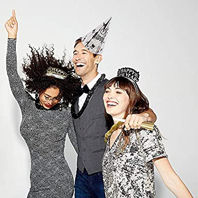 Amscan Elegant Eve New Year's Party Kit for 25, Includes Cone Hats and Tiaras: Kitchen & Dining