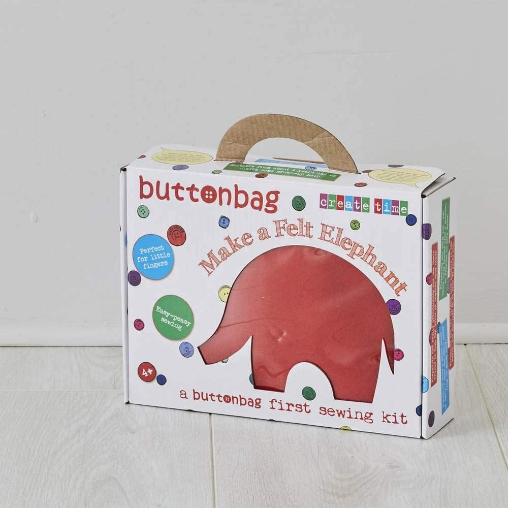 Elephant Buttonbag First Sewing Kit For Kids Childrens Sewing Kit