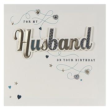 Hallmark Square Husband Contemporary 3D Lettering Birthday Card