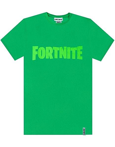 Fortnite Logo Boys Green T-Shirt Battle Royale Kids Tee