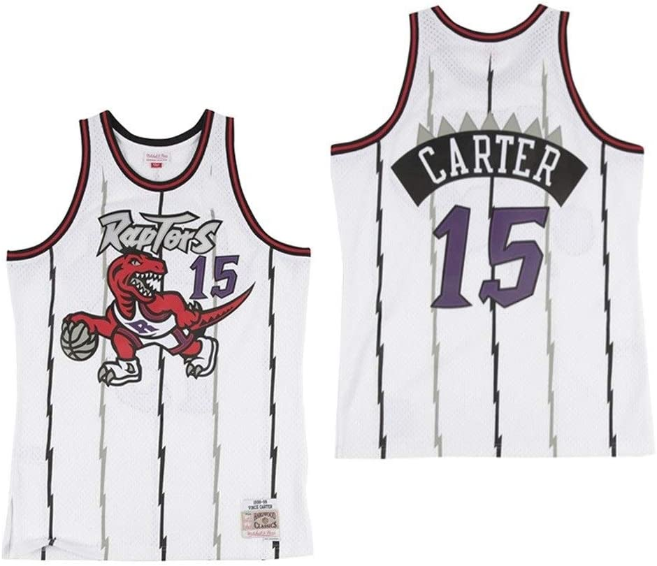 Color : A, Size : XS Vince Carter # 15 Baloncesto Uniforme RLZ Jersey Baloncesto Camiseta de Baloncesto de los Hombres Toronto Raptors Camiseta sin Mangas XS-XXL