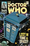 Doctor Who TARDIS Comic Book Cover Art Sci Fi British TV Television Show Poster Print 24x36 by Culturenik