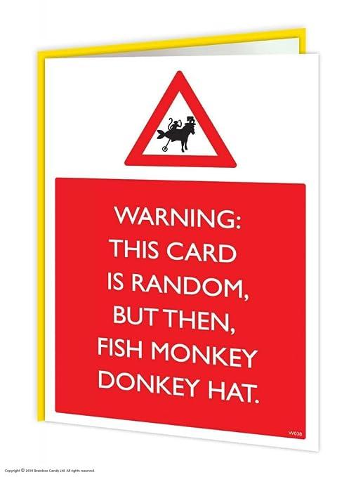 Amazon.com: BrainBox Candy Funny Humor advertencia pez ...
