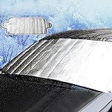 Voiks Cubierta Protectora para Parabrisas de Coche, para Invierno, Hielo, Escarcha o Lluvia, Resistente a la Intemperie, Protege el Parabrisas y los Espejos para Mantener tu vehículo Limpio