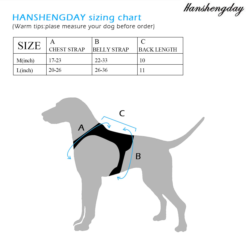 Hanshengday Tactical Dog Vest-Training Molle Harness-Tactical Dog Backpack-Pet Tactical -Vest Detachable Pouches-Relective Patches