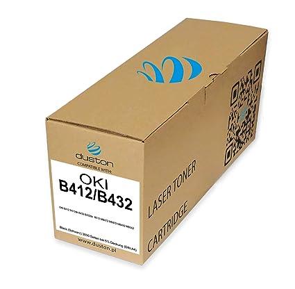 B412/B432 tóner Negro Compatible con Oki B412 b412dn B432 b432dn ...
