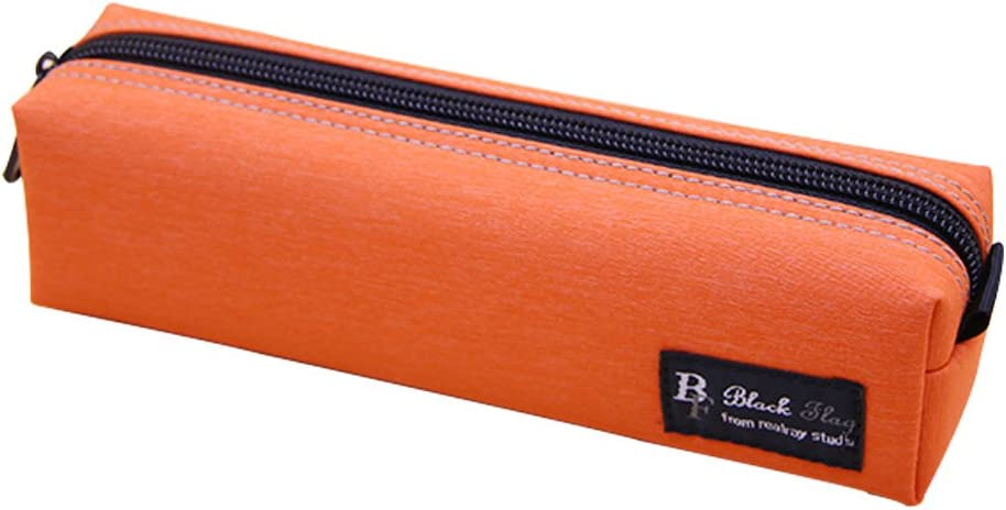 Unionway Multi Color Large Capacity Classic Rough Enough Small Tool Canvas Pencil Case Pouch Stationary Bag (Orange)