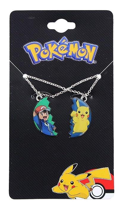 Amazon.com: Pokemon Pikachu y Ash Ketchum BF colgante de ...