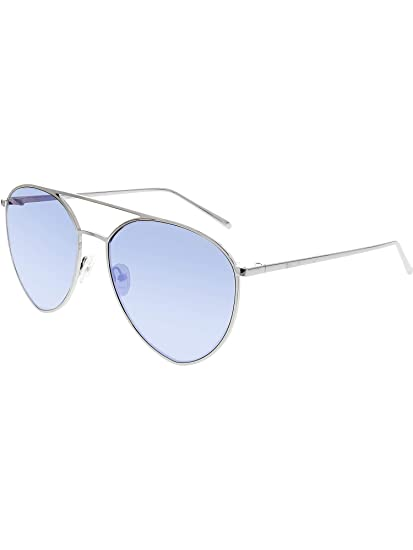 11c013da91 Quay Women s Indio QC-000189-SLV BLUMIRR Silver Aviator Sunglasses ...