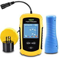 $45 » LUCKYLAKER Ice Portable Fishing Fish Finder Wired Handheld Fishing Finders Kayak Sonar Sensor…