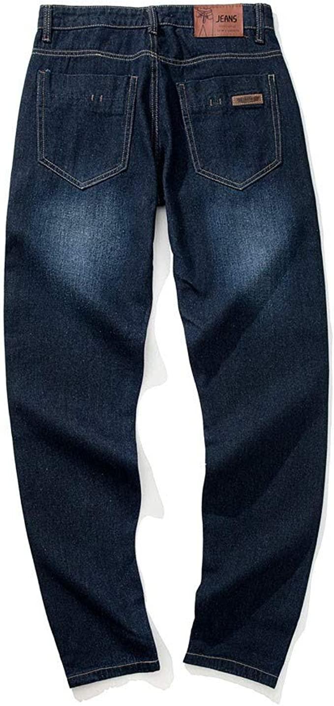 GLVSZ Summer Mens Regular Fit Washed Jeans Straight Leg Denim Jean