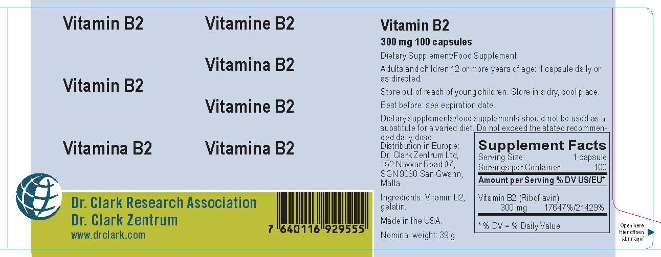Vitamin B2, 300 Mg, 100 Capsules