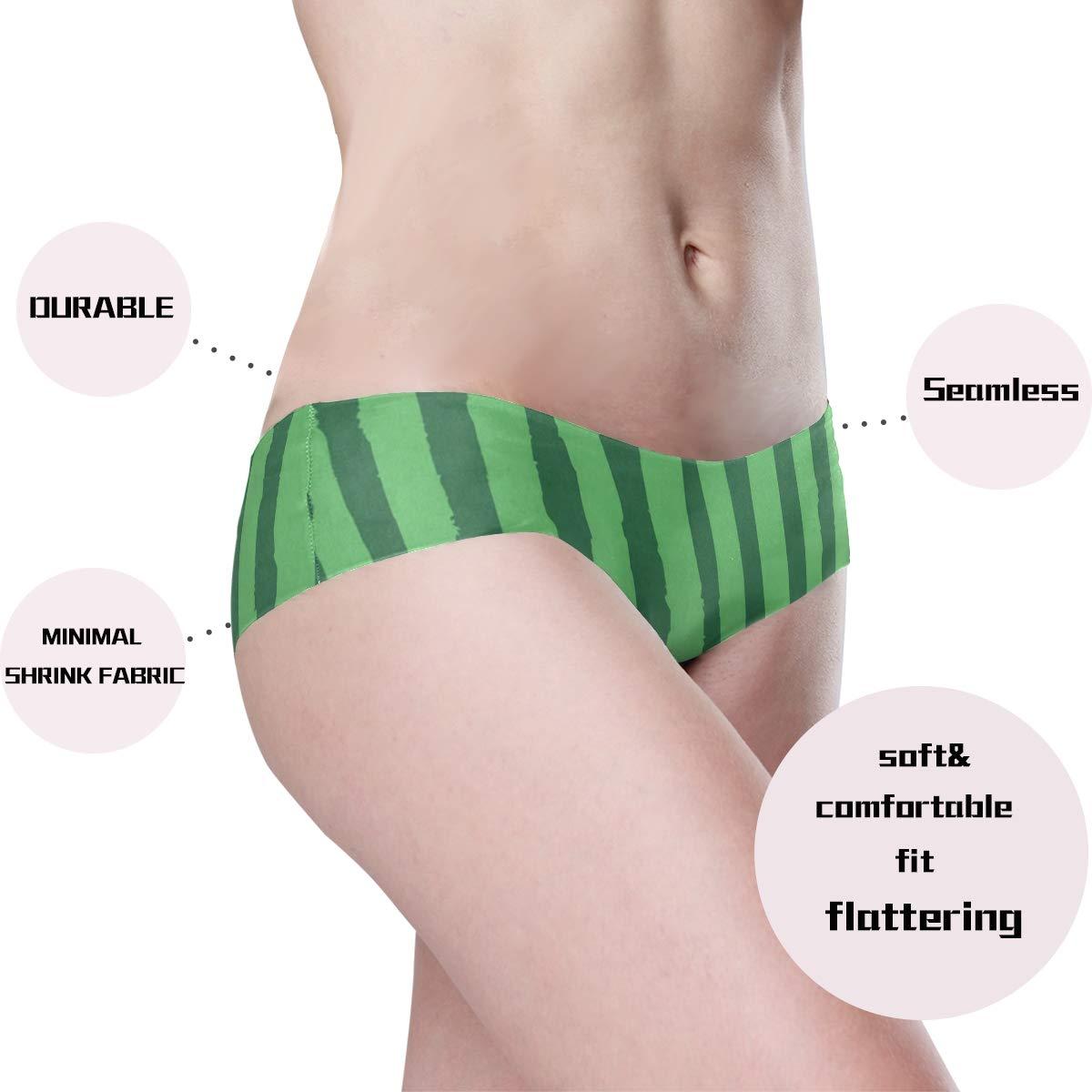 Watermelon Pattern Womens Underwear Seamless Cheeky Panties No Show Panty Lines