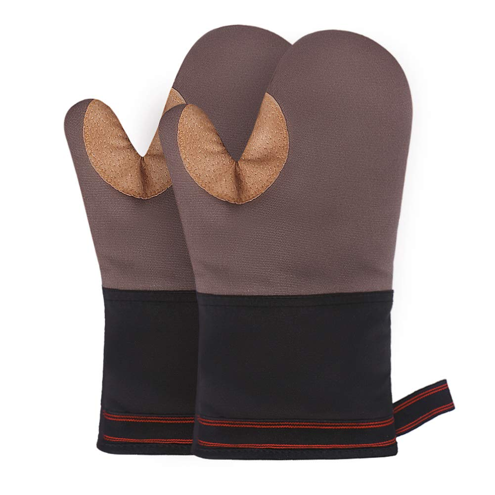 esafio Oven Mitts, Recycled Cotton Infill, Terrycloth Lining, Kitchen Oven Mitts 500 ℉ Heat Resistant