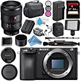 Sony Alpha a6500 Mirrorless Digital Camera (Body) ILCE6500/B + Sony FE 100mm f/2.8 STF GM OSS Lens SEL100F28GM + NP-FW50 Replacement Lithium Ion Battery + Deluxe Cleaning Kit Bundle