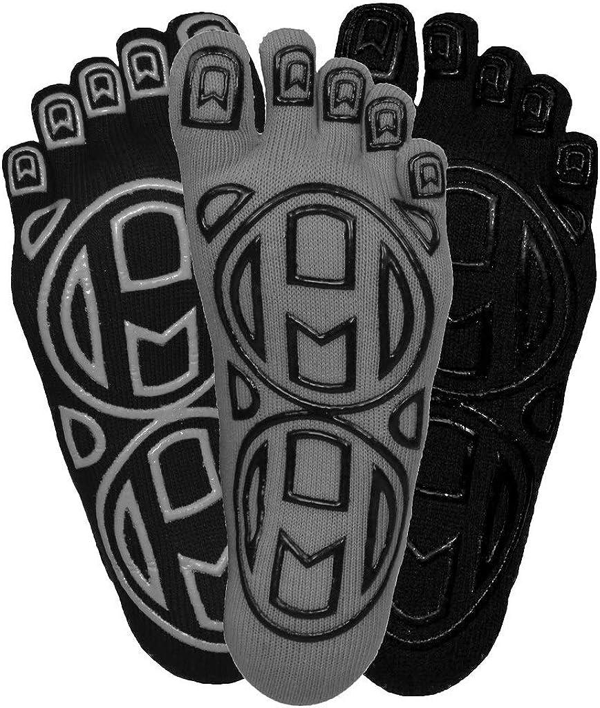 "Mato & Hash 5-Toe Exercise""Barefoot Feel"" Yoga Toe Socks With Full Grip: Clothing"