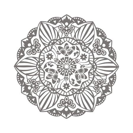 lyclff Mehndi Ornamento Yoga Namaste Flor De Loto Etiqueta De La ...