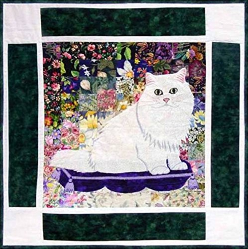 Watercolor Quilt Kit - Rachel's Cat Garden - Block 5 - Max Chinchilla Persian Cat - KIT ONLY! ()