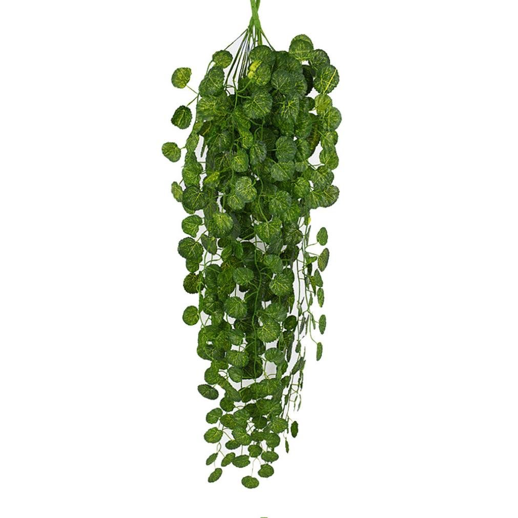 Sonmer Artificial Hanging Vine Plant Leaves Garland,For Home Garden Wall Green Decoration (Begonia Leaf)