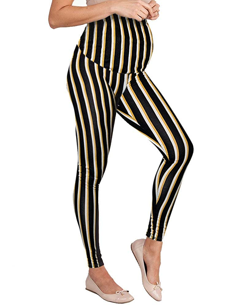 10958blackivory Hybrid & Company Women's Super Comfy Maternity Leggings Made in USA