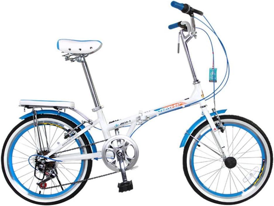 XQ Bicicleta Plegable Adulto Estudiante Cambio De Velocidad 7 20 Pulgadas (Color : Azul): Amazon.es: Deportes y aire libre