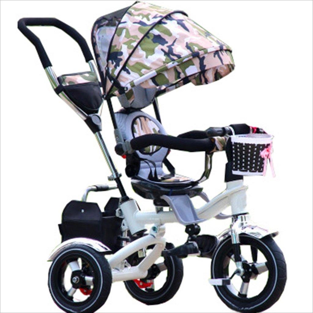 子供の屋内屋外小型三輪車自転車の男の子の自転車の自転車6ヶ月-5歳の赤ちゃんスリーホイールトロリー、ダンピング/折りたたみ/回転座席 (色 : 2) B07DVGNFYF 2 2
