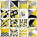 FORUU Throw Pillowcase, Pineapple Leaf Yellow Pillow Case Covers Sofa Car Waist Cushion Home Decor