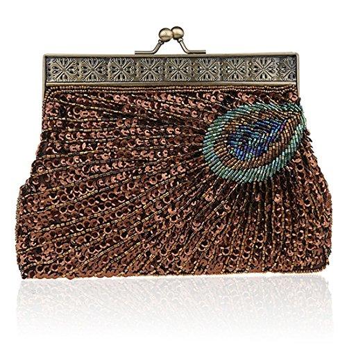TOYIS Pochette Color pour femme Deep clutches Coffee w8wqfB