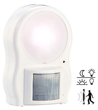 Luz Lámpara 9 LED A Pilas con Sensor de Movimiento PIR y crepuscular X Interno