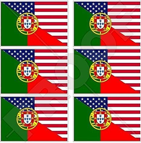 calcomanías x6 Bandera De Madeira Portugal Portuguesa 40 mm Teléfono Celular Móvil Mini pegatinas