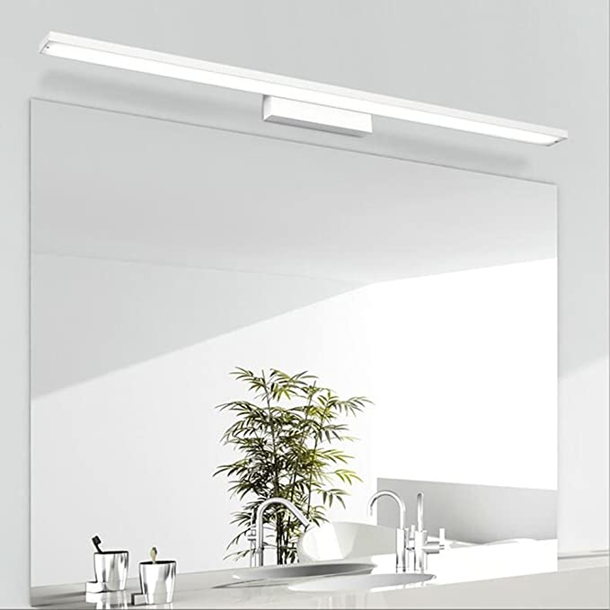 12W Luz del espejo de la lámpara de pared lámpara de baño de acero inoxidable de 600 mm Blanco fresco baño luminaria a prueba de agua con estilo elegante Blanco: Amazon.es: Iluminación