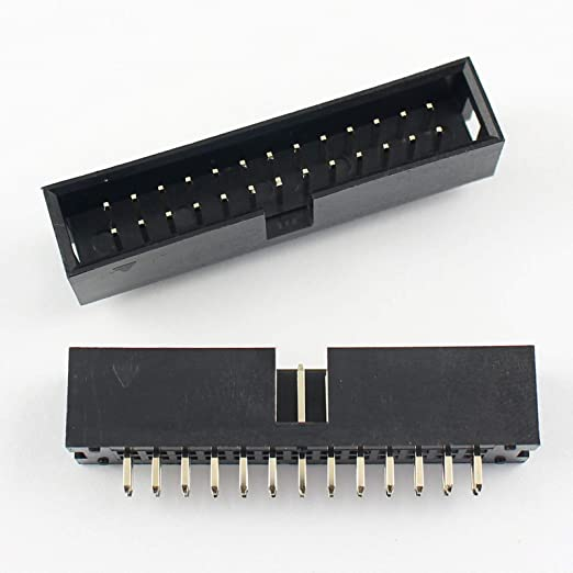 2 PACK 26 pin 2.54mm Dual Row Right Angle Female Pin Headers 2 x 13