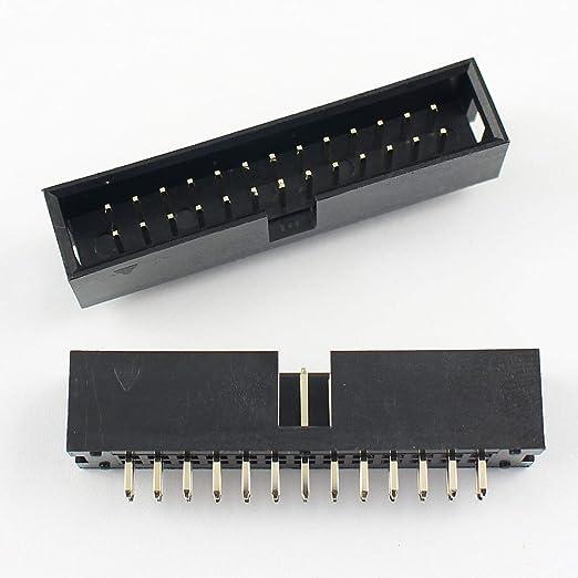 50Pcs 2.54mm 2x13 Pin 26 Pin Straight Male Shrouded PCB Box header IDC Socket