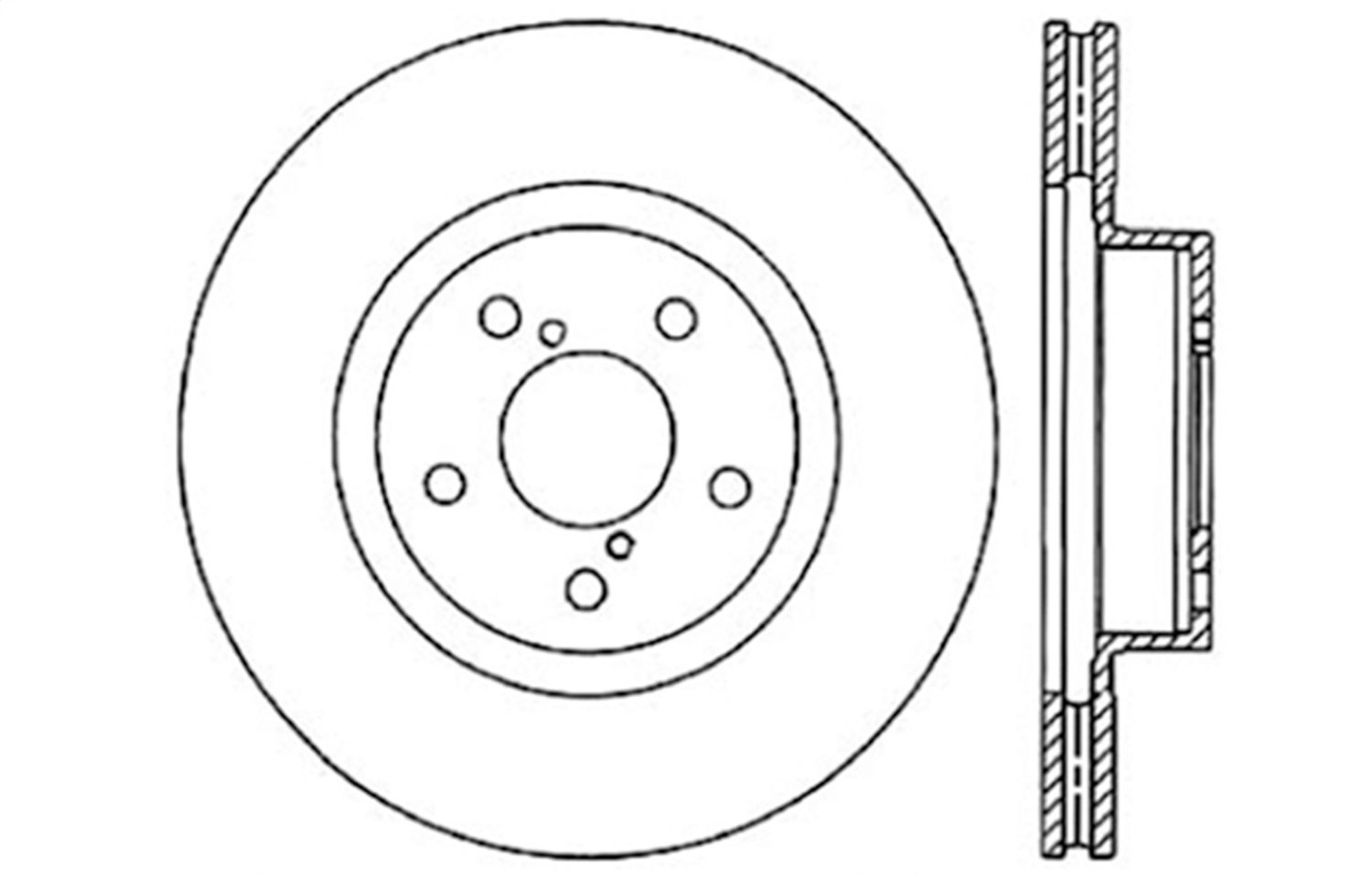 1 Pack StopTech 127.47012L Sport Drilled//Slotted Brake Rotor Front Left