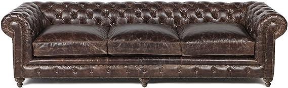 Amazon.com: Brown Leather Sofa 118