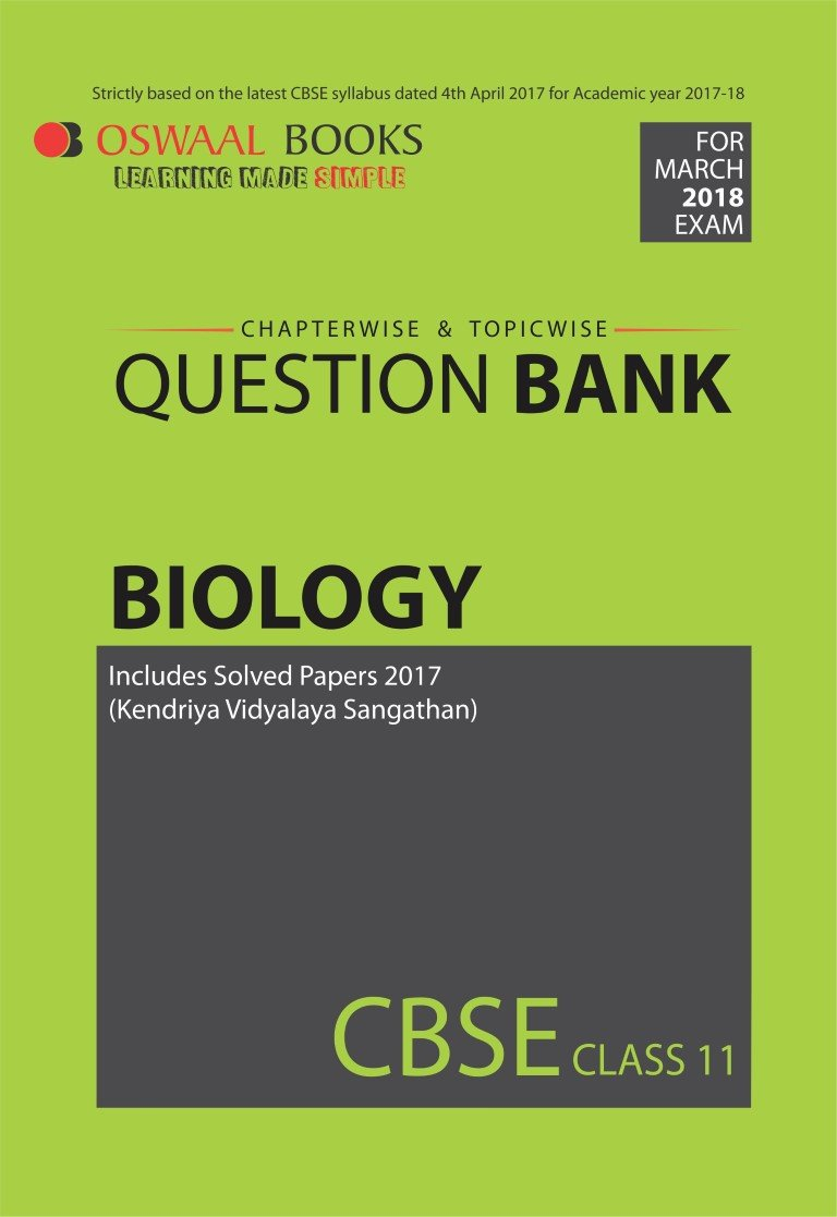 Oswaal CBSE Chapterwise/Topicwise Question Bank for Class 11 Biology Old  Edition: Amazon.in: Panel of Experts: Books