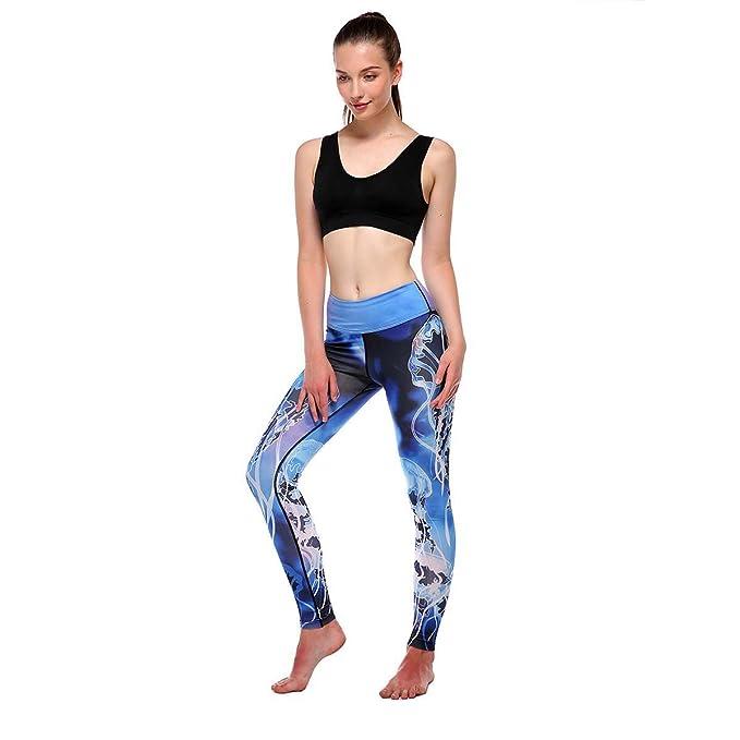 Yoga Mujer Deportiva Pantalones, Empalmado de Leggins ...