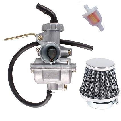 amazon com: new pz20 atv carburetor with fuel filter air filter 35mm for  taotao nst sunl kazuma baja 50cc 70cc 90cc 110cc 125cc atv go-kart dirt  bike sunl: