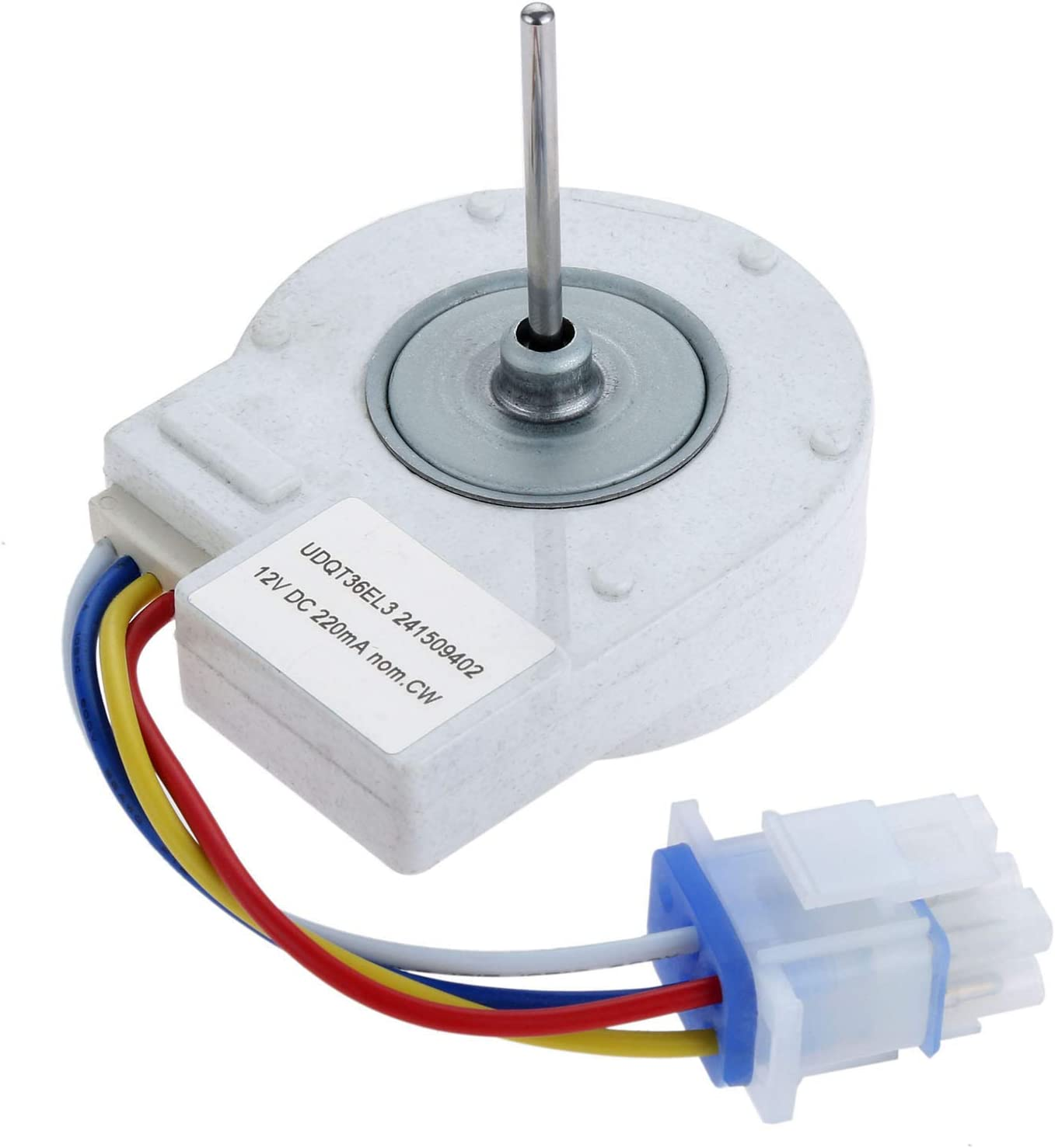 Dreld WR60X10209 Refrigerator Condenser Fan Motor, Replaces Part # WR60X10155 WR60X10216 WR60X10042 LP15442 WR60X10065, Replacement Part Fit for GE, Kenmore, Hotpoint, RCA
