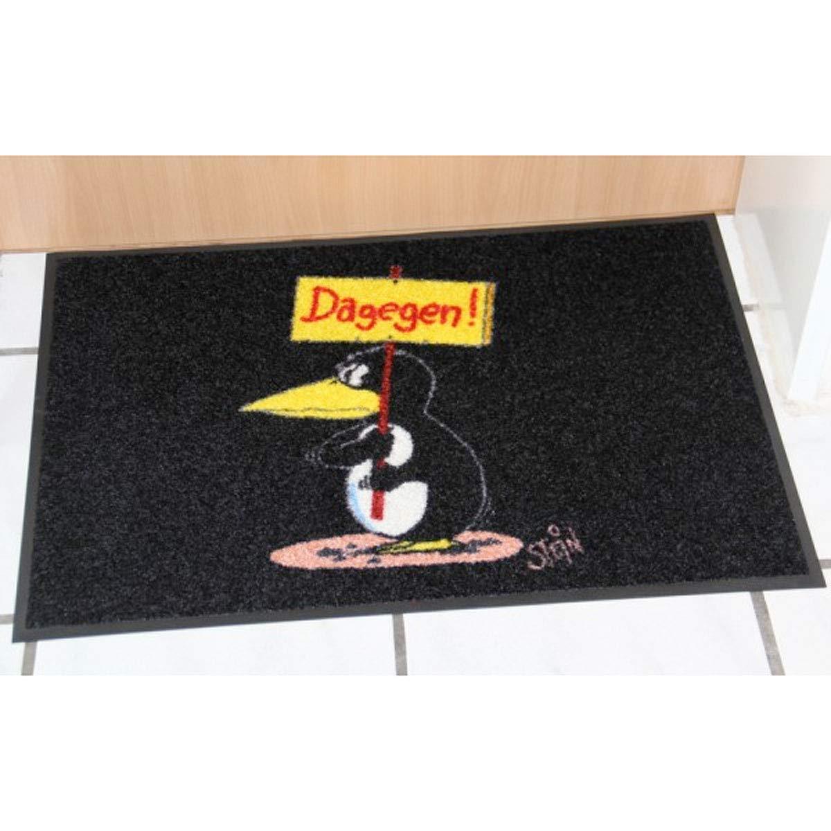 Wash+Dry Waschbare Fußmatte Fußmatte Fußmatte - Pinguin - Dagegen ©Uli Stein - 50x75cm lustiger Fußabstreifer mit Cartoon Motiv B008I32PKY Fumatten 52ad77