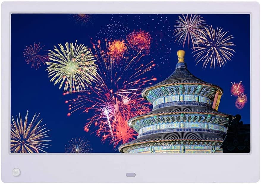 IPS Display Widescreen with Motion Sensor Support USB//SD Card,White 16:9 LoMe Digital Photo Frame,13 Inch Digital Picture Frame 1280800