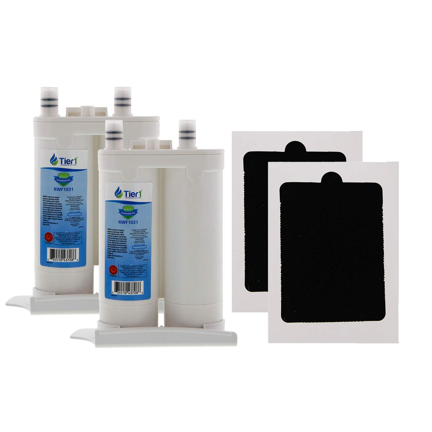 Tier1 Replacement for Frigidaire WF2CB Comparable PureSource2, NGFC 2000, 1004-42-FA, 469911, 469916 and PAULTRA Water and Air Filter 2-Pack Combo