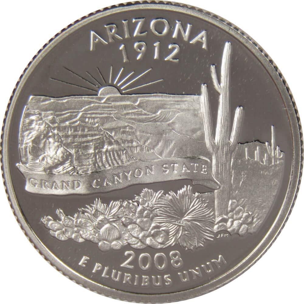 2008 Arizona P State Quarter BU Uncirculated
