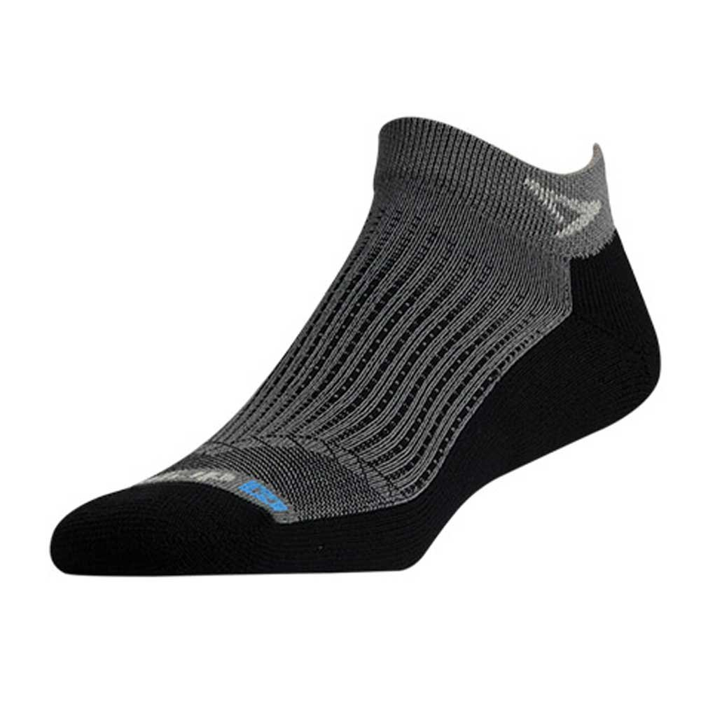 Drymax Running Mini Crew, Anthracite/Black, M11-13 by Drymax